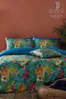 Riva Home Kanha Bettbezug und Kissenbezug im Set mit tropischem Tiermuster