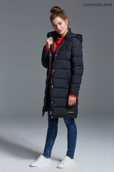Calvin Klein Jeans Black Long Down Padded Jacket