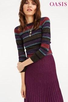 Oasis Daisy Pullover mit Streifen, mehrfarbig