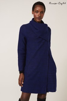 Phase Eight Blue Bellona Knit Coat
