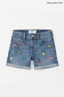 Abercrombie & Fitch Fruit Embroidered Short