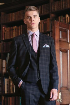 Check Tailored Fit Suit