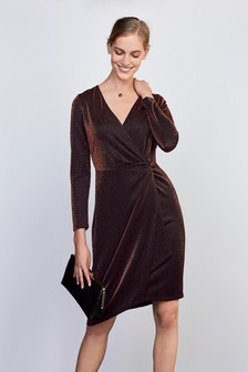 Sparkle Jersey Wrap Dress
