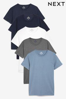 Set met vijf T-shirts