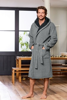 Dogstooth Dressing Gown