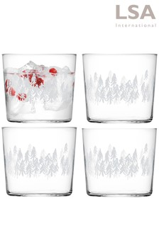 Set of 4 LSA International Fir Tumbler Glasses