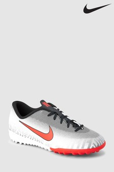 Nike White Neymar Vapor Academy 12 Turf Junior & Youth