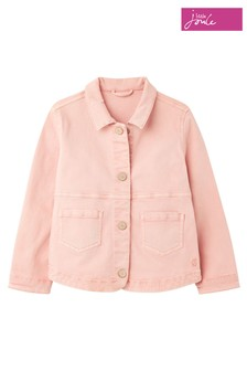 Joules Pink Imogen Denim Jacket