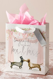 Dachshund Wedding Gift Bag
