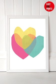 Bright Hearts by Seventy Tree Framed Print