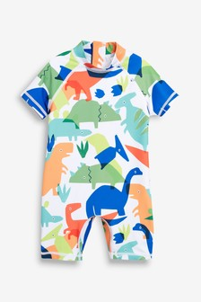 Rainbow Dinosaur Sunsafe Suit (3mths-7yrs)