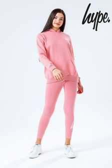Hype. Pink Kids Hoodie And Leggings Set