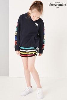 Abercrombie & Fitch Shorts mit Regenbogenstreifen