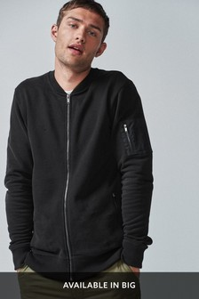 Utility Zip Through Bomber Jacket