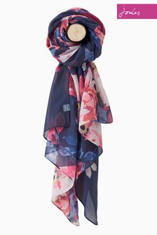 Joules Blue Birchem Bloom Wensley Scarf