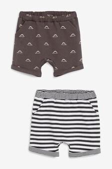 Shorts mit mit Dinosaurier-Motiven, Doppelpack (0Monate bis 2Jahre)