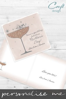 Personalised Prosecco Mother's Day Card by Croft Designs