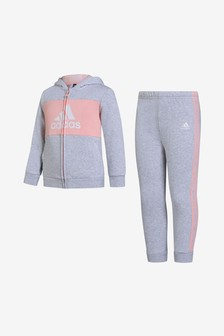 adidas Infant Grey Hoody Set