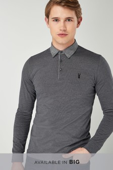 a75a69e7 Long Sleeved Polo Shirts for Men | Next Official Site