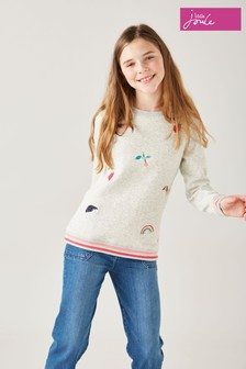 Joules Grey Mackenzie Artwork Sweatshirt