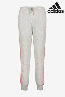 adidas Grey/Pink 3 Stripe Joggers