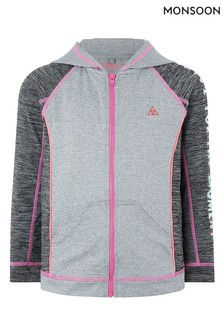 Monsoon Grey Lizzie Hooded Top
