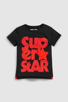 Футболка с коротким рукавом и надписью «Superstar» (3 мес.-7 лет)