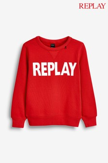 Replay® Kids Red Logo Sweater