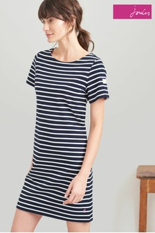 Joules Blue Riviera Short Sleeve Jersey Dress