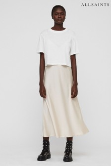 All Saints White Benno 2-In-1 Dress