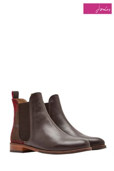 Joules Red Check Westbourne Tweed Backed Boot