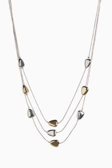 Pebble Three Row Short Necklace