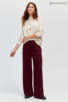 Warehouse Purple Wide Leg Trouser