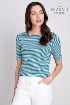Seasalt Blue Short Sleeve Low Light Top