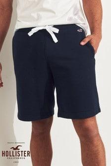 Темно-синие классические шорты Hollister