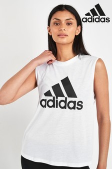 adidas White Badge Of Sport Tank
