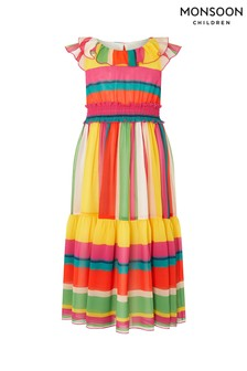 Monsoon Bright Stripe Maxi Dress