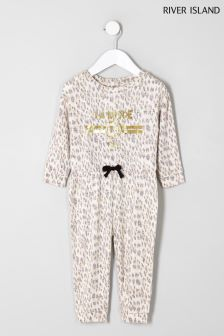 River Island Animal Cosy Jumpsuit