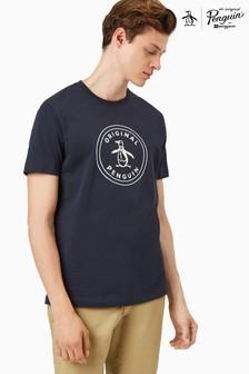Original Penguin® Kurzärmliges T-Shirt mit aufgestempeltem Logo