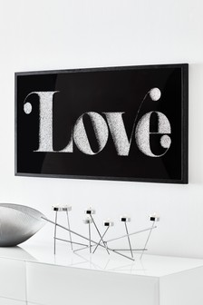 Embellished Love Framed Art