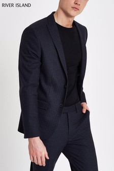 River Island Navy Ford Suit Set Jacket