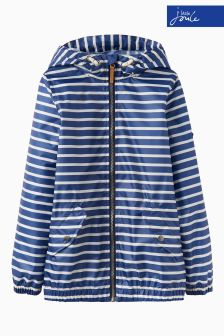 Joules Blue Stripe Boys Waterproof Jacket