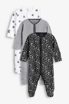 3 Pack Multi Print Sleepsuits (0mths-2yrs)