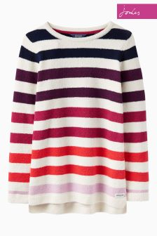 Joules Purple Multi Stripe Seabridge Chenille Jumper