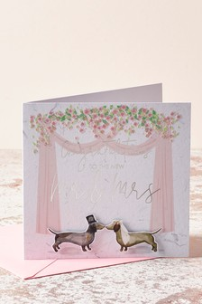 Dachshund Wedding Card