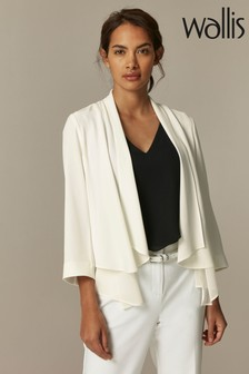 Wallis Ivory Chiffon Waterfall Jacket