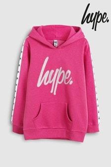 Hype. Pink Glitter Script Hoody