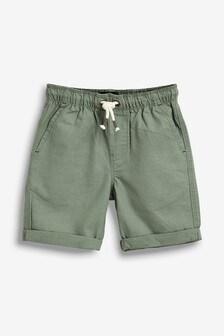 Linen Blend Pull-On Shorts (3-16yrs)