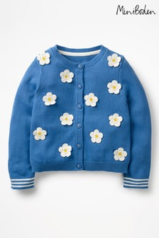 Boden Blue Pretty Floral Cardigan