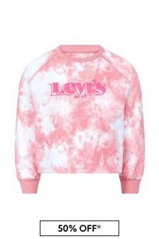 Levis Kidswear Girls Pink Cotton Blend Sweater
